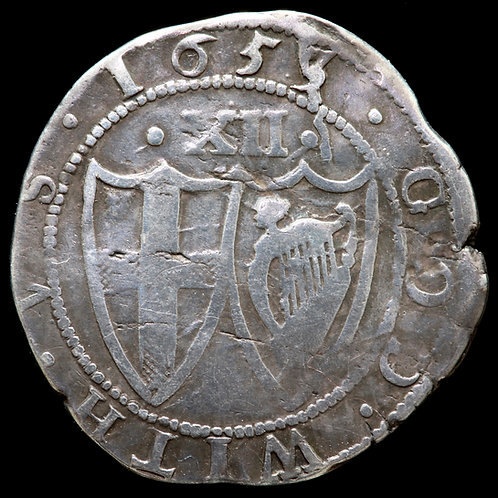 The Commonwealth Of England. Shilling, 1653, mm. Sun.