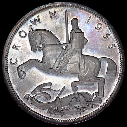 George V. Proof Silver Crown, 1935. Raised Edge. Mintage Of 2,500.