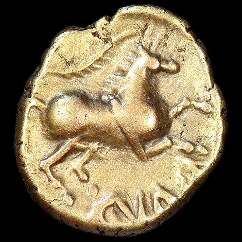 Celtic Britain. Catuvellauni, Cunobelin. Quarter Stater, c.8-41 A.D. Wild Type.
