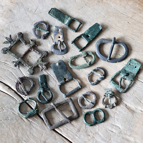 Medieval Strap Ends And Buckles, 12th-15th Centuries A.D.