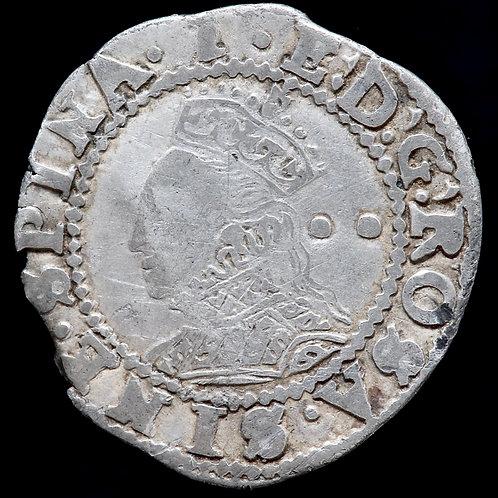 Elizabeth I, 1558-1603. Halfgroat, mm. 1, 1601-2. A Scarcer Mint Mark.