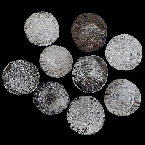Henry III, 1216-72. Pennies, Short Cross. Various Mints And Moneyers. (9 Coins)