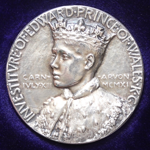 Edward VIII, Abdicated 1936. Royal Mint Silver Investiture Medal, 1911.