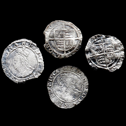 Elizabeth I, 1558-1603. Pennies. Various issues. (4 Coins)