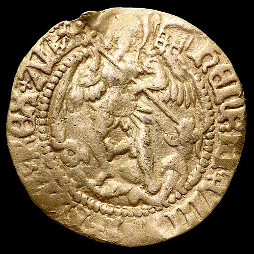 Henry VIII, 1509-47. Half Angel, mm. Portcullis Crowned. First Coinage, 1509-26.