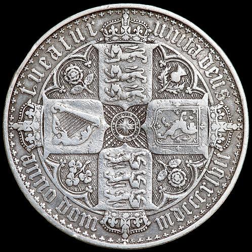 Victoria, 1837-1901. Crown, 1847. 'Gothic' Type. UNDECIMO Edge.