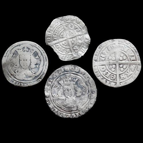 Edward III, 1327-77. Groats And Halfgroats. (4 Coins)