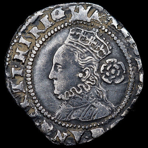 Elizabeth I, 1558-1603. Hammered Silver Threepence, 1575. Mint Mark Eglantine.