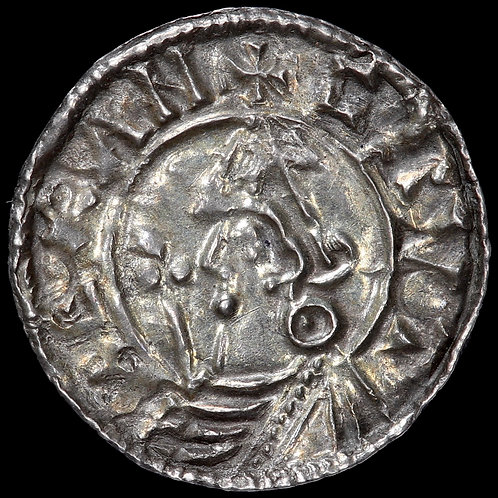 Cnut (Canute), 1016-35 A.D. Penny. Pointed Helmet Type. York Mint.