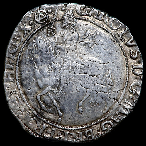 Charles I, 1625-46. Halfcrown, mm. Triangle In Circle, 1641-3. Tower Mint.