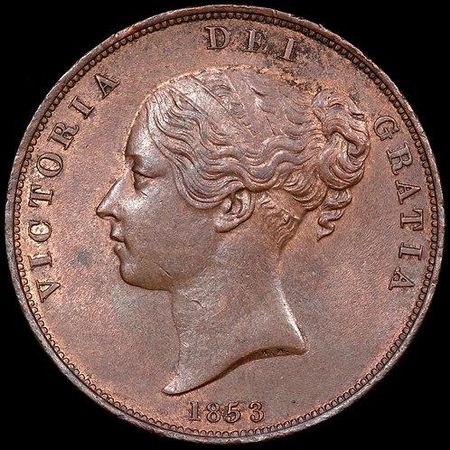 Victoria, 1837-1901. Penny, 1853. Ornamental Trident.