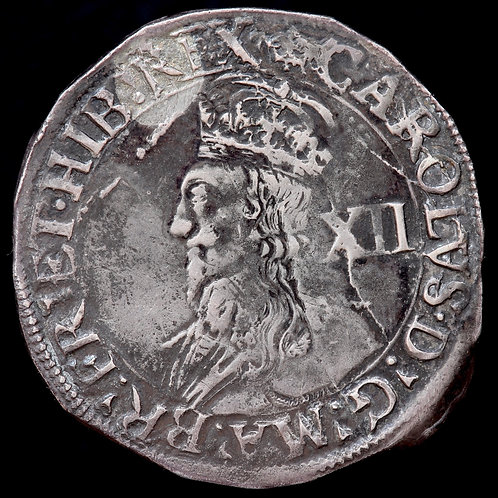Charles I, 1625-49. Shilling, mm. Crown. Group D, Type 3a. Ex Locket Collection.