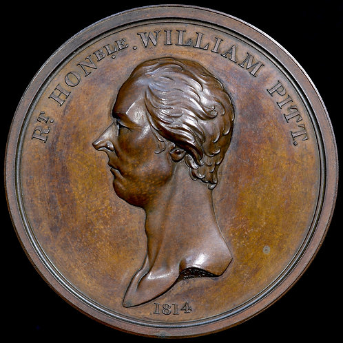 William Pitt, 1759-1806. Bronzed Copper Medal, 1814.