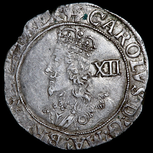 Charles I, 1625-46. Shilling, mm. Anchor, 1628-9. Tower Mint.