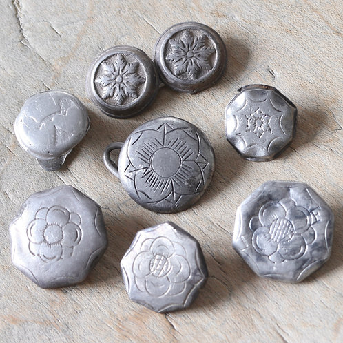 Georgian Silver Marriage Button, And Other Buttons.