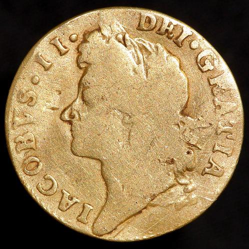 James II, 1685-88. Half Guinea, 1687.