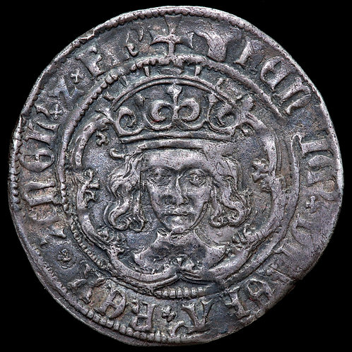 Henry VII, 1485-1509. Groat, mm. Greyhound, 1502-4. London Mint. Class IVb.