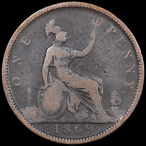 Victoria, 1837-1901. Penny, 1869. Scarce.