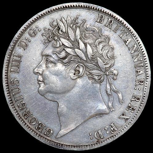 George IV, 1820-30. Crown, 1821. SECUNDO Edge.
