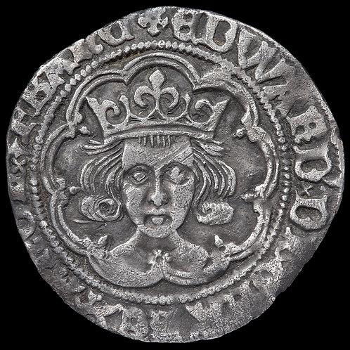 Edward IV, Second Reign, 1471-83. Groat, mm. Cinquefoil. Rose On Breast.