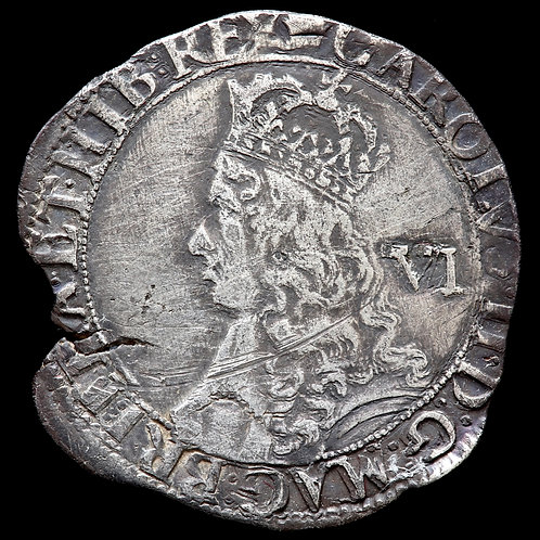 Charles II, 1660-85. Sixpence, mm. Crown. Hammered Issue, 1660-62.