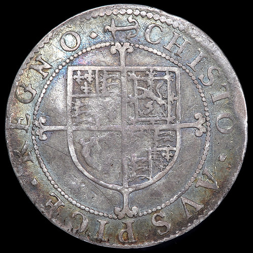 Charles I, 1625-49. Milled Sixpence, mm. Anchor And Mullet. Briot's 2nd Issue.