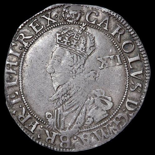 Charles I, 1625-49. Shilling, mm. Rose. Group C. Tower Mint. Ex Tapp Collection.