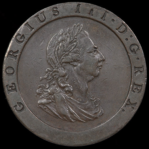 George III, 1760-1820. Penny, 1797.