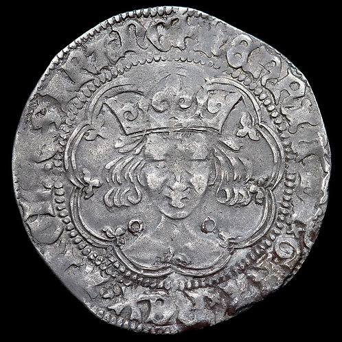 Henry VI, 1422-61. Hammered Silver Groat. Annulet Issue, 1422-30. Calais Mint.
