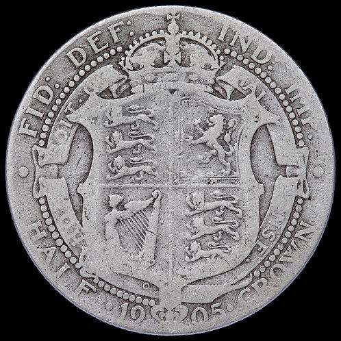 Edward VII, 1902-10. Halfcrown, 1905. Scarce.