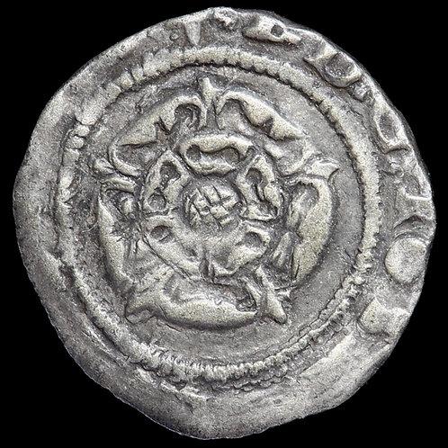 Edward VI. Base Silver Penny, mm. Mullet, 1552-53. York Mint. Rose Issue.