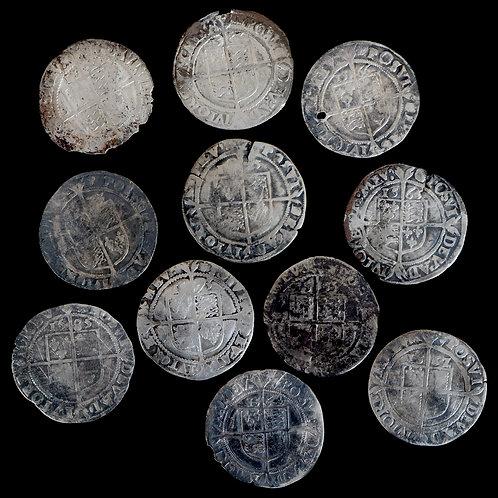 Elizabeth I, 1558-1603. Sixpences. (11 Coins)
