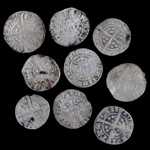 Medieval Pennies, 13/14th Century. (9 Coins)