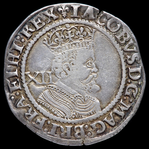 James I, 1603-25. Shilling, 3rd Coinage, mm. Lis, 1623-4.