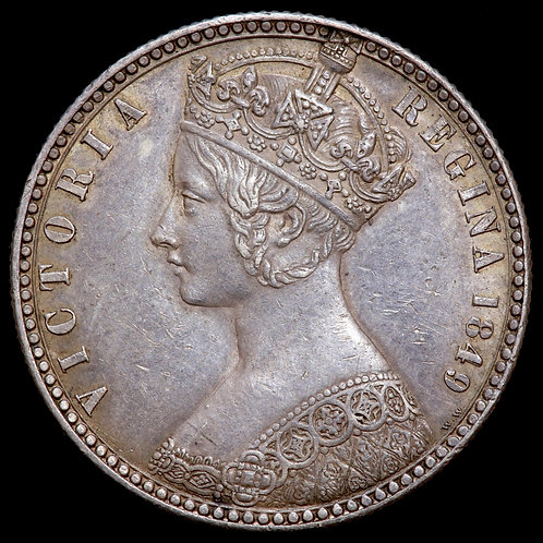 Victoria, 1837-1901. Florin, 1849. Godless Type.