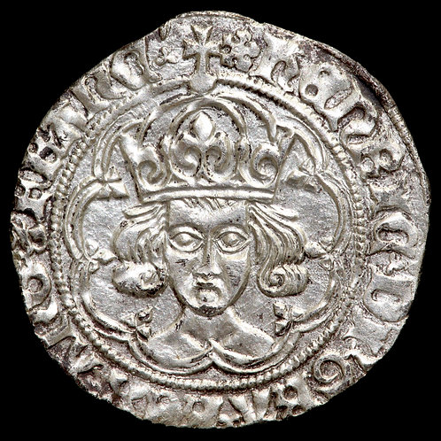 Henry VII, 1485-1509. Groat. Class IIa. London Mint, mm. Cinquefoil.