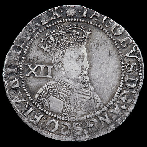 James I, 1603-25. Shilling, 1st Coinage, mm. Thistle, 1603-4.