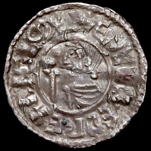 Aethelred II, 978-1016. Penny. CRUX Type. London Mint. Moneyer Deorsige.