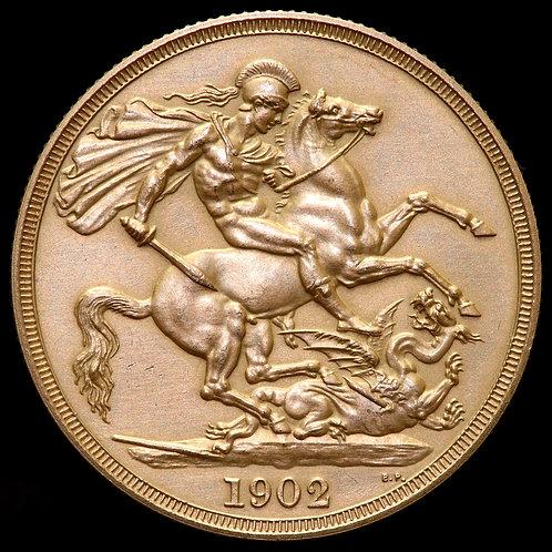 Edward VII, 1902-10. Matt Proof Two Pounds, 1902.