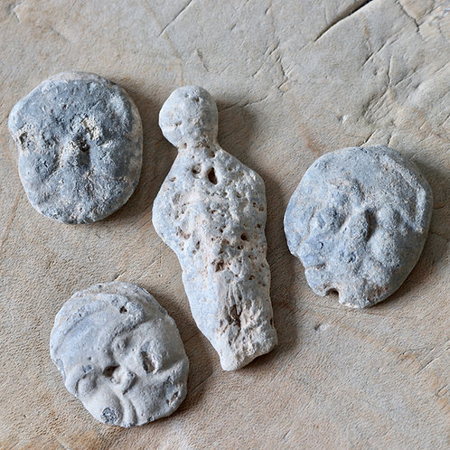 Saxon-Early Medieval Moulded Lead Gaming Or Votive Pieces, c.7th-12th Century.