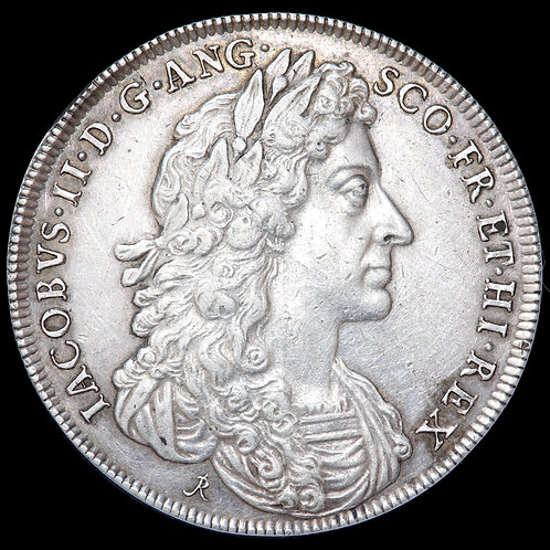 James II, 1685-88. Official Silver Coronation Medal, 1685. By Rottiers.