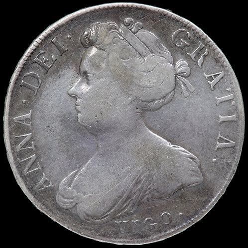 Anne, 1702-14. Crown, 1703 Vigo. TERTIO Edge.
