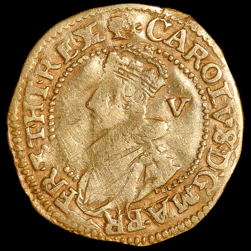 Charles I, 1625-49. Gold Crown. Tower Mint Under The King, 1625-42.