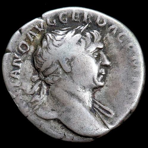 Roman Empire. Trajan, 98-117 A.D. Denarius.