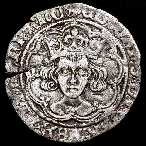 Edward IV, Second Reign, 1471-83. Groat. London Mint, mm. Heraldic Cinquefoil.