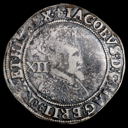 James I, 1603-25. Shilling, 1605. Second Coinage, 1604-19. Tower Mint, mm. Lis.