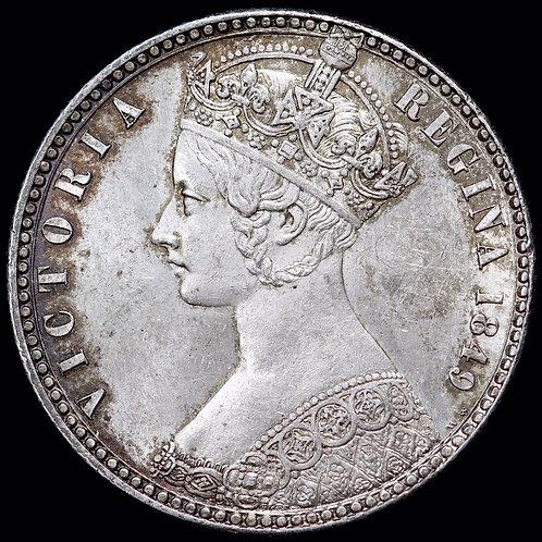 Victoria, 1837-1901. Godless Type Florin, 1849.