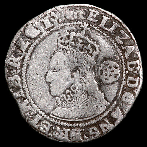 Elizabeth I, 1558-1603. Sixpence, 1593. Sixth Issue. Tower Mint, mm. Tun.