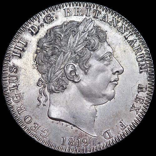 George III, 1760-1820. Crown, 1819. LIX Edge.