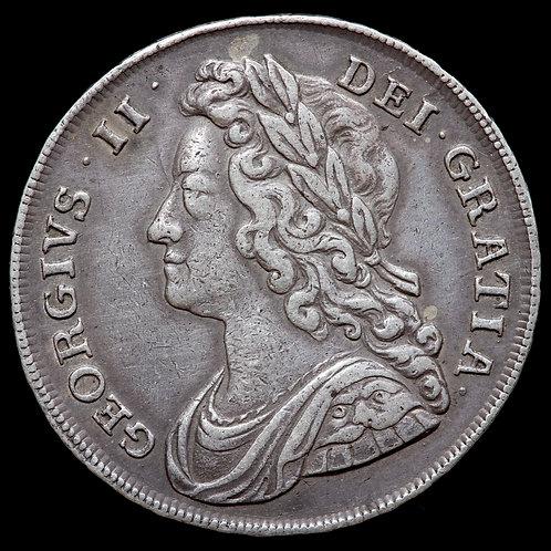 George II, 1727-1760. Halfcrown, 1741. DECIMO QVARTO Edge.